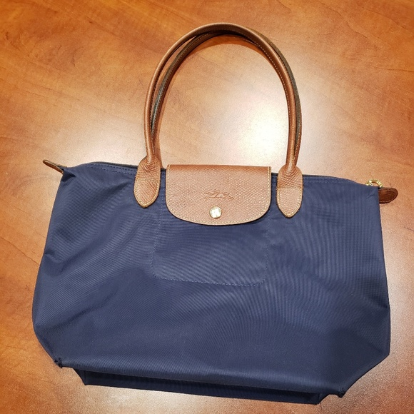 Auth. Longchamp Le Pliage S Navy (Made in France)